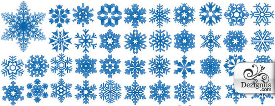 Copos de nieve formato EPS
