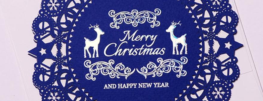 Tarjetas navideñas hechas con láser