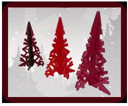 Arboles de navidad de metacrilato recortados con un láser CO2
