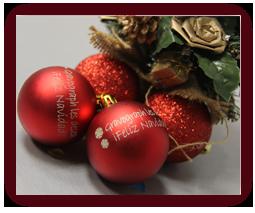 Bolas Navidad grabadas con láser CO2