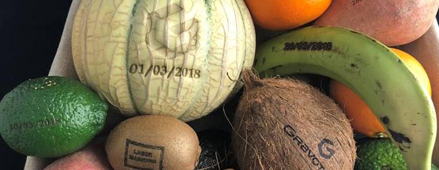 Marcaje laser de frutas y verduras