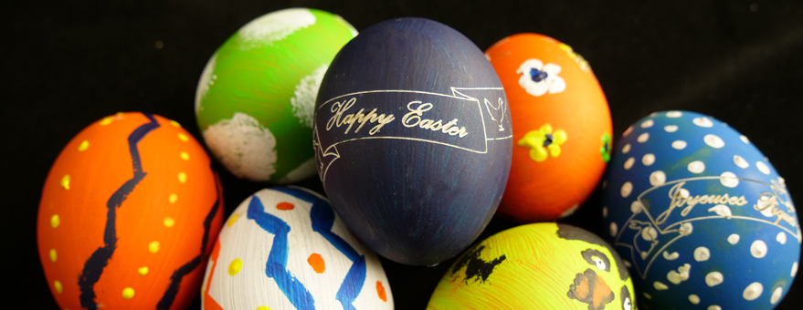 Grabado huevos de Pascua
