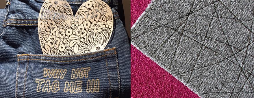Grabadora laser para textil