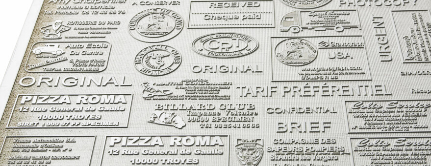 Fabricar sellos de caucho