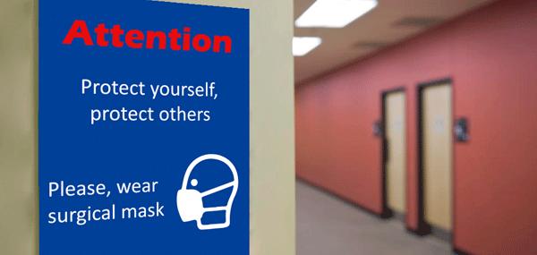 Rótulos con indicaciones de seguridad y prevención