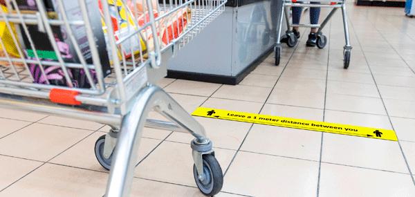 Indicación suelo distancia seguridad