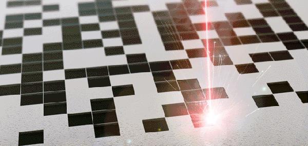 Marcaje de códigos Datamatrix por láser